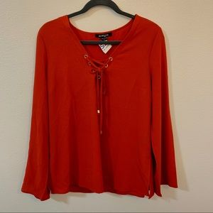 Nwot new look lace up blouse